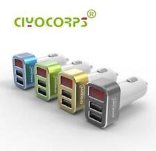 CIYOCORPS Dual USB Phone Car Charger With Voltmeter Monitor