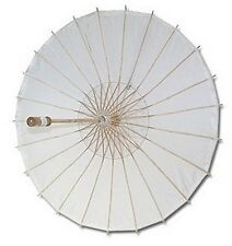 4x White Paper Umbrella Wedding Party Parasol #13289 S-2194X4