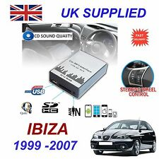 SEAT IBIZA 1999 - 2007 MP3 SD USB CD AUX Input Audio Digital CD Changer Module