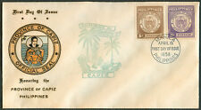1959 Philippines HONORING THE PROVINCE OF CAPIZ First Day Cover - A