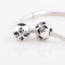 BUTTERFLY BLUE genuine 925 sterling silver charm bead fit European bracelet