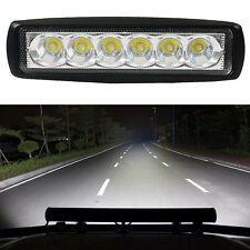 Super Bright 18W Driving Fog Lights Flood LED Work Lamp Bar Offroad Car Explorer