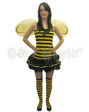 Sexy Bumble Busy Bee Fancy Dress Outfit Costume 5 Pcs