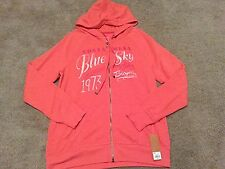 NWT Sonoma Life & and Style Red Slub Cotton Hoodie Womens Large L
