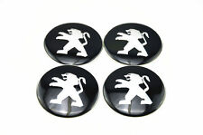 Set di 4 ADESIVI PEUGEOT 3d stile CENTRALE RUOTA HUB CAPS BADGE EMBLEMA 56mm GB
