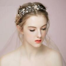 Silver Flower Bridal Tiara Crown Headband Veil Hair Accessory for Wedding
