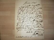LETTRE AUTOGRAPHE   DE Louis Charles Auguste COUDER (1790-1873) PEINTRE