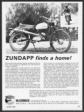 1968 Zundapp Replica International Six-Days Trial Motorcycle photo vintage Ad