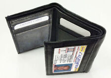 BLACK MEN's GENUINE SOFT LEATHER ID WINDOW 9 CREDIT CARDS TRIFOLD WALLET #23