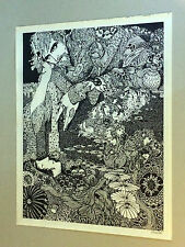 original vintage poster psychedelic man woman flowers San Francisco 1960's trip