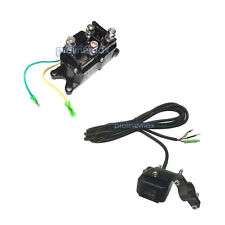 Solenoid + Rocker Switch Combo Relay Winch Contractor 12V ATV UTV Waterproof