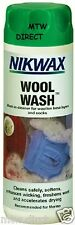 NIKWAX WOOL WASH DEODERISING CLEANER FOR MERINO WOOL SKIING LS BASE LAYERS