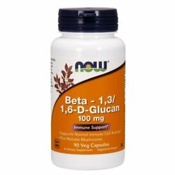 NOW FOODS, BETA-1.3/1,6-D-Glucan, 100 mg, 90 Kaps. EXTRAPREIS !!!