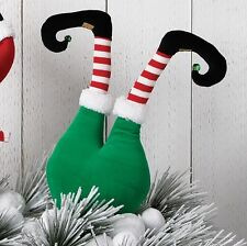 "RAZ Imports 20"" Elf Butt Bottom Green with Striped Legs Christmas NEW Tree"