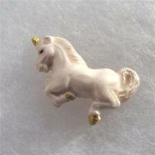 Peruvian Ceramic Leaping Unicorn Pendant Focal Bead (1) Hand Painted Pick Color