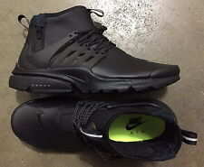 Nike Air Presto Mid Utility Black Dark Grey Volt size 9 (# 859524-003)