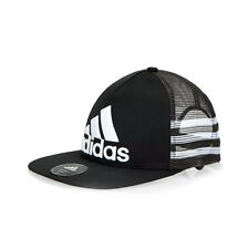 ADIDAS BLACK TRUCKER one size adidas lightweight  hat cap   bnwt