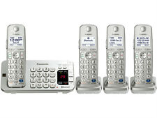 Panasonic KX-TGE274S Intelligent Eco-Mode LCD 4 Handset Cordless Phone - Silver