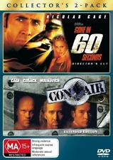 Gone In 60 Seconds / Con Air (2 DVD Set),  Region 4, LIKE NEW, Fast Post....2044