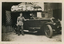 PHOTO ANCIENNE - VINTAGE SNAPSHOT - VOITURE AUTOMOBILE TACOT GALERIE BAGAGES-CAR