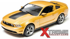 GREENLIGHT 12870B 1:18 2010 FORD MUSTANG GT SUNSET GOLD METALLIC W/HOOD STRIPE
