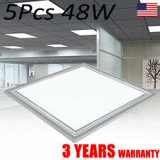5Pc 48W LED Ceiling Panel Down Light Bulb 4000lm Square Ceiling Commercial Lamp
