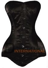 Supreme Long Torso Double Steel Boned Overbust Satin Corset Bustier Korset