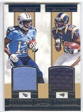 Kendall Wright Brian Quick #5 2012 Panini Prominence Unlimited Potential Jersey