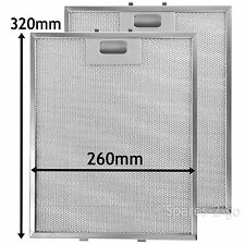2 Metal Mesh Filters For CATA B&Q Cooker Hood Vent filter 320 x 260 mm