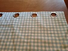 Laura Ashley Gingham Curtains Duck Egg, Eyelets, All 5 Cols Made To Measure