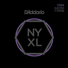 D'Addario NYXL1164 Nickel Wound 7-String Medium Electric Guitar Strings (11-64)