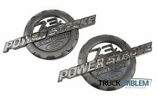 2 NEW MATTE BLACK FORD 7.3L POWER STROKE EXCURSION BADGES EMBLEMS SET PAIR