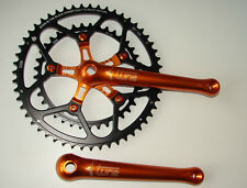 Tune casi Foot manivela Orange RR Road retro nos Compact Shimano dura ace LK 110