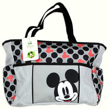 Disney Mickey Mouse Large Tote Diaper Bag Baby Bottle Bag NEW
