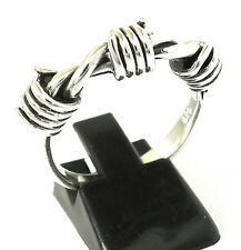 BARBED WIRE BARB STERLING 925 SILVER RING Sz 10