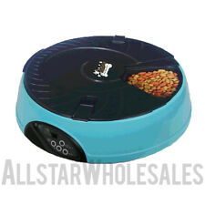 QPets Automatic Pet Feeder Bowl AF 108 Dry Food for Cats Dogs + 2 FREE CLICKERS