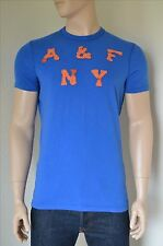NEW Abercrombie & Fitch Bald Peak A&F Classic Logo Graphic Blue Tee T-Shirt XL