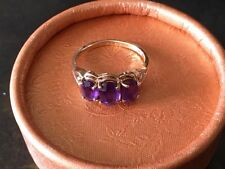 10k YELLOW GOLD & AMETHYST RING SIZE 6  ~NICE VINTAGE~