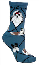Shih Tzu  Terrier Dog Socks 9-12  Gray Made in the USA-New Wheel House