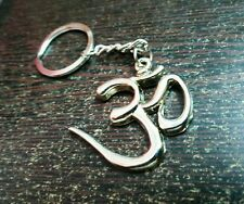 RELIGIOUS SIGN OM AUM KEYCHAIN KEY RING FULL STEEL METAL GIFT KEY CHAIN