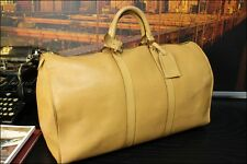 LOUIS VUITTON 100% Authentic Large Tan Leather Mens Duffle Cabin Carryall Bag