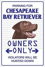 "*Aluminum* Parking For Chesapeake Bay Retriever 8""x12"" Metal Novelty Sign Ns 432"
