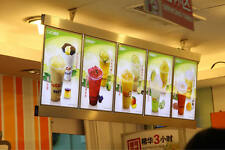 6units/Column Single Sided Restaurant LED Menu Displays Light Box For Fast food
