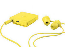 Genuine Nokia BH-121 Stereo In-Ear Wireless Bluetooth Clip-On Headset - Yellow