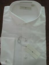 Joseph Abboud Traditional Wing Tip White Tuxedo Shirt 17 36/37 NEW $85