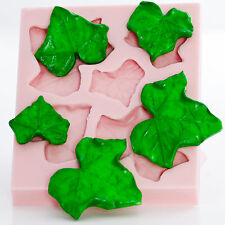 Ivy Leaf Silicone Mold Food Safe Fondant Gum Paste Chocolate Mint Mould  (707)