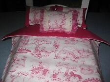 American Girl Inspired Nursery Rhyme  Doll Bedding Pillows 4 Piece Reversible