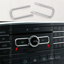 2x Chrome Inner CD Control Frame Cover Trim For Mercedes Benz E Class W212 2015