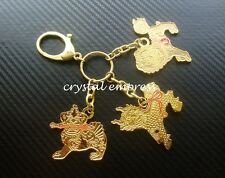 Feng Shui - 2015 Large 3 Celestial Guardians With Implements Keychain