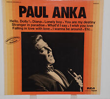"LP 12"" Paul Anka Live in New York Impakt RCA  REC.EX+"